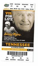 2012 TENNESSEE VOLUNTEERS VS FLORIDA GATORS JOHNNY MAJORS TICKET STUB 9/15/12