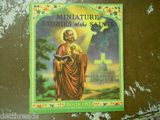 MINIATURE STORIES OF THE SAINTS - 1943 - Beautiful Colored Prints - BOOK 1