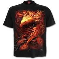 SPIRAL DIRECT PHOENIX ARISEN - T-Shirt Flames/Mystical/Metal/Biker/Bird/Top/Tee