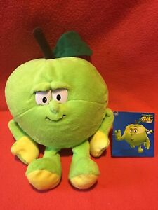 Goodness Gang Super Foodz Alex Apple Soft Plush Toy With Tags!