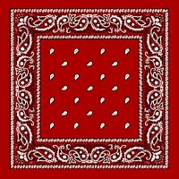 xl Red Extra Large 100% Cotton Bandana Scarf Black White Paisley 27 in Headscarf