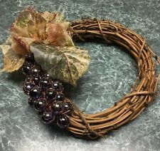 "8"" Small Grape Vine Weath Decor.  One Of A Kind. Can Costumize!"