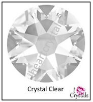 CRYSTAL CLEAR (001) Swarovski 7ss 2mm Flatback Rhinestones 2058 Xilion 144 pcs