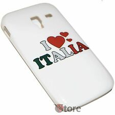 Cover for SAMSUNG Galaxy Ace 2 i8160 I LOVE ITALY Rigid White
