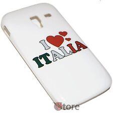 Cover Custodia Per SAMSUNG Galaxy Ace 2 i8160 I LOVE ITALIA Rigida Bianca