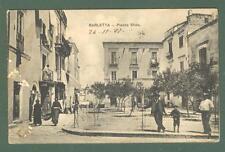 Puglia. BARLETTA, Bari. Piazza Sfida. Cartolina d'epoca viaggiata nel 1907.