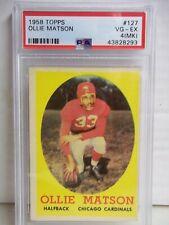 1958 Topps Ollie Matson PSA VG-EX 4(MK) Football Card #127 NFL HOF