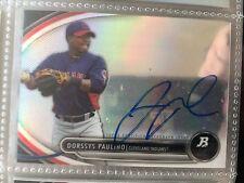 Dorssys Paulino 2013 Bowman Platinum Baseball Prospect Auto Cleveland  Indians