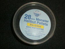Catfish Pro 28mm Pre Drilled Halibut Pellet Tub  Fishing bait