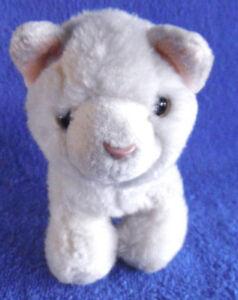 *1803b*  Russ Berrie - rare - cream kitty cat (#34171) - plush - 17cm