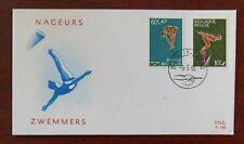 Fdc timbre Belgique n° 1372/73 sport natation