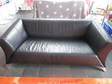 BMP Rolf Benz 747 Designer Sofa Leder Dunkelblau 3 Sitzer Couch ähnlich 322