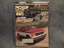 PickUp Van & 4wd Magazine Volume 11 No.1 October 1981 Isuzu Gas 4x4 Vs Diesel