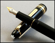 MONTBLANC MEISTERSTUCK CLASSIC 145 BLACK AND YELLOW GOLD 14 K GOLD FINE NIB