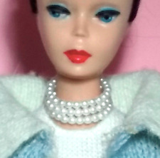 Dreamz WHITE TRIPLE PEARL CHOKER Mood For Music VINTAGE REPRO for Barbie Doll