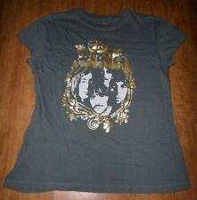 BEATLES juniors T shirt lrg Lennon McCartney psychedelic frame White Album pics