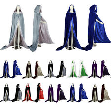 New Velvet Cape Hooded Cloak Coat Christmas Wedding Shawl Plus Stock Size S-6X