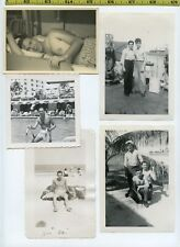 (30) Vintage photo lot / BEEFCAKE - Shirtless Men Muscles OLD SNAPSHOTS 1925-65