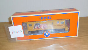 LIONEL 6-85076 UNION PACIFIC UP WIDE VISION CABOOSE TRAIN O GAUGE CAMERA US FLAG