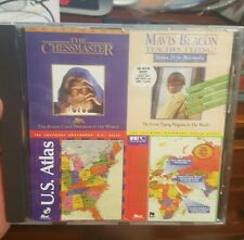 CD Deluxe Pack 4 - Chessmastwr Mavis Beacon World Atlas -  PC GAME - FREE POST