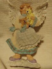 """K's Collection Angel Cherub Figurine with dog and bear 5"""" tall Resin/Ceramic"""