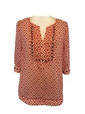 41 Hawthorn Large Moni Geo Print Camisole Blouse Orange White