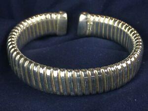 Vintage Sterling Silver 925 Milor Italy Bangle Stretch Bracelet