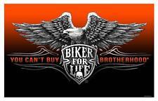 DELUXE BIKERS BROTHERHOOD SHEILD 3X5 FLAG FL#626 biker motorcycle new eagle
