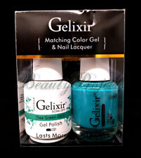 Gelixir Soak Off Gel Polish Sea Green 083 LED/UV .5oz Matching Gel Duo