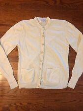 Vintage Lady Clansman Women's Cream Gold Buttons Wool Cardigan Size Xl Bermuda