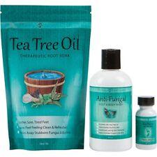 Toenail Fungus Treatment with Antifungal Soap, Tea Tree Oil Foot Soak and ReNew