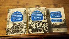DICTIONNAIRES HISTORIQUES DES RUES DE PARIS