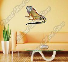 "Green Iguana Lizard Tropical Animal Wall Sticker Room Interior Decor 25""X20"""