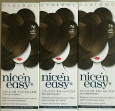 3 x Clairol Nice'N Easy 76 Light Golden Brown enhancer Non permanent No peroxide