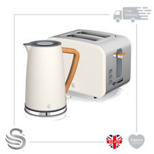 Swan Nordic 1.7 Litre Jug Kettle & 2 Slice Toaster Soft Touch White