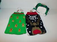 Lot of new Pet Central Size Medium Dog Sweaters and Hat