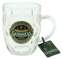 Dimpled Glass Tankard with St. James Gate Label - Guinness Ireland Collection (O