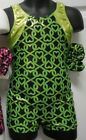 FOIL Shorty unitard Pink or Lime Hearts Gymnastics Acro over 50 available NWT