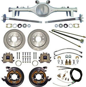 CURRIE 68-72 GM A-BODY REAR END & DISC BRAKES,LINES,PARKING BRAKE CABLES,AXLES,+