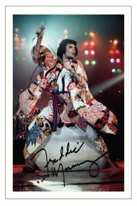 FREDDIE MERCURY Signed Autograph 6x4 PHOTO Gift Print Music QUEEN
