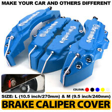 "4Pcs Blue 3D Brake Caliper Covers Style Disc Universal Car Front Rear 10.5"" CY2"
