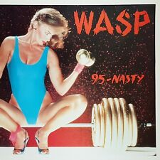"W.A.S.P. - 9.5. - N.A.S.T.Y. 12"" Vinyl Single European Release 1986 Rare OOP!"