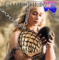 The Game of Thrones Daenerys Targaryen Gold Dragon Egg Pendant Necklace