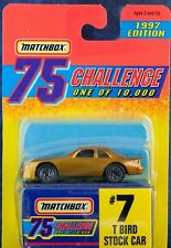 Matchbox MB 7 T Bird Stock Car Gold 75 Challenge 1997 Mint On Card