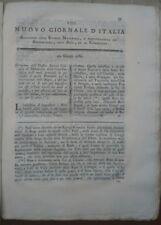 1789 RIVISTA NUOVO GIORNALE D'ITALIA: RAPE A MONTECCHIO EMILIA E PERSEREANO (UD)