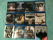 Lot of 12 Blu-ray movies Sci-Fi Star Trek district 9 id4 looper matrix robocop T