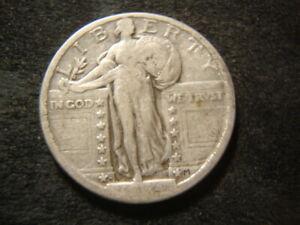 1924-D  F VF  Standing Liberty Quarter Nice Coin DZX