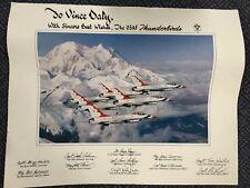 Vintage 1986 USAF Thunderbirds Original Print Poster To Vince Daly Air Force USA