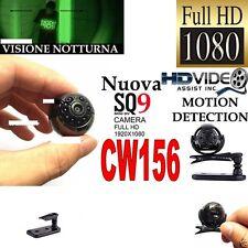 TELECAMERA SPIA MICROCAMERA INFRAROSSI FULL HD NASCOSTA NIGHT VISION SQ9 CW156