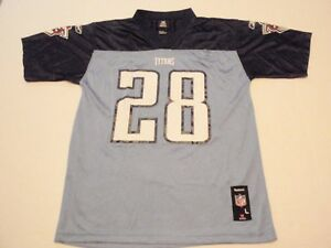 Chris Johnson Tennessee Titans Reebok NFL Jersey Size Youth Large #28